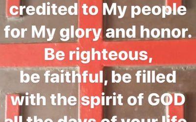 JESUS is LORD Prophetic Word 9th of Nov 2019 Love LORD Jesus